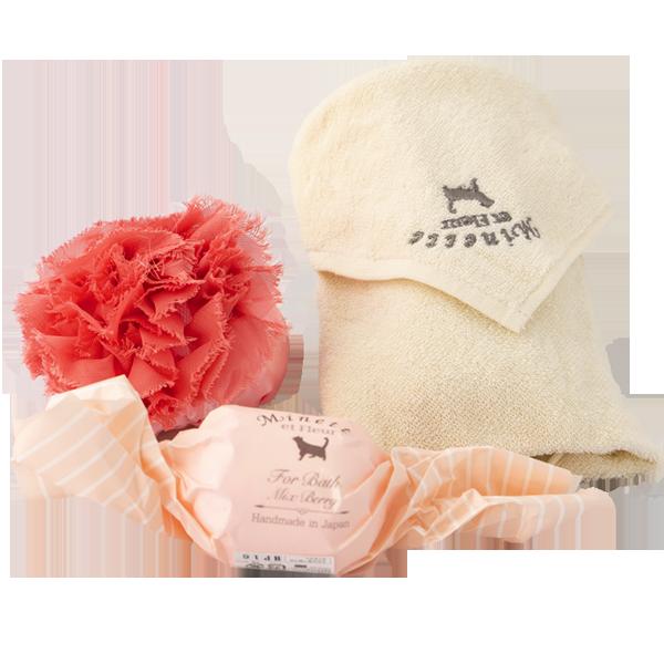 バスボム&ハンドタオル【Minette et Fleur】オリジナルギフトセット|花キューピットのホワイトデーにおすすめ!人気のプレゼント特集 2020