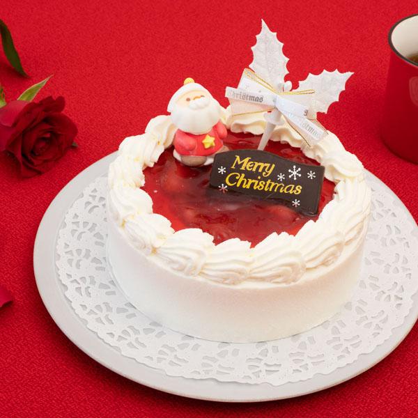 サンタが笑顔を届けるケーキト|花キューピットのクリスマスプレゼント特集2019