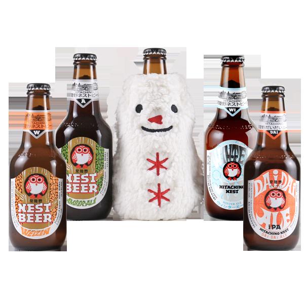 冬限定 常陸野ネストビール5本セット|花キューピットのクリスマスにおすすめ!人気のプレゼント特集 2020