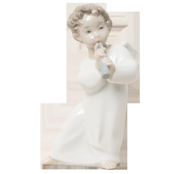 美しい天使のアート【リヤドロ】可愛いフルート|花キューピットのクリスマスにおすすめ!人気のプレゼント特集 2019
