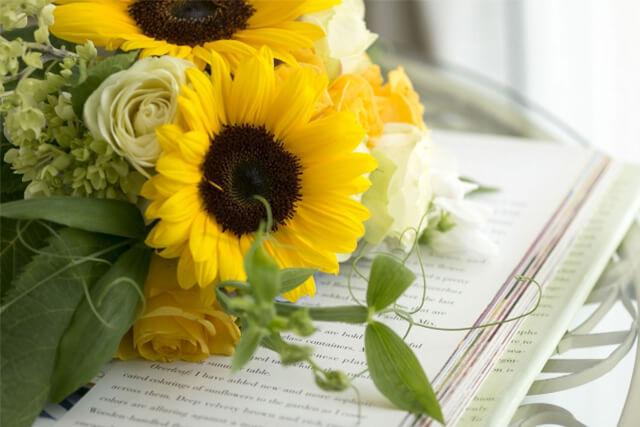 ひまわりの持つ花言葉で感動をプレゼント